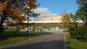 Warszawa Biblioteka Narodowa wykończenia wewnętrzne w kamieniu