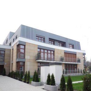 Poznań ul.Libelta budynek mieszkalny elewacje z kamienia