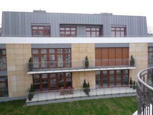 Poznań budynek mieszkalny ul. Libelta elewacja z piaskowca