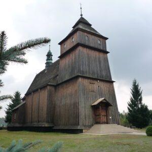 Poręby Dymarskie Kościół Stanisława i Wojciecha kamienne schody
