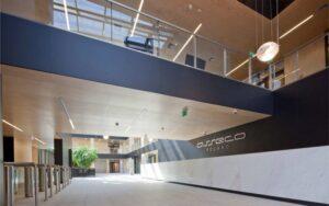 Siedziba firmy ASSECO POLAND_PL posadzki kamienne, wykończenia wewnętrzne w kamieniu