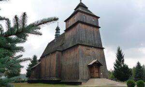 Poręby Dymarskie Kościół św. Stanisława i Wojciecha kamienne posadzki kamienne schody
