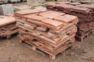 Wyroby gotowe z piaskowca płyty poligonalne płyty poprodukcyjne z piaskowca